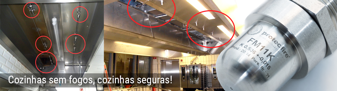 Protecção contra fogo em cozinhas - protecfire
